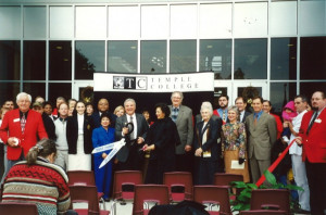 The One College Centre building was dedicated on Nov. 15, 2000.