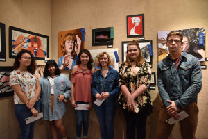 High school students who received awards in the 2018 Central Texas Art Competition and Exhibition...
