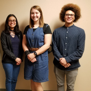 Temple College students who have been selected to perform with 2020 All-State music ensembles include (l-r) Drew Schmidt (bass), Alondra Salazar (soprano), Idalia Medina (horn), Kennedy Hogan (clarinet) and Deon Byrd (euphonium). Not pictured is Hope Ash.