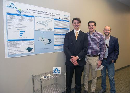 TBI student George Robinson (left) is among the students who will be presenting their work at a r...