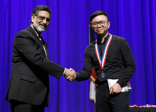 Khai Nguyen was one of two Temple College students honored at the 2019 All-Texas Academic Team Me...