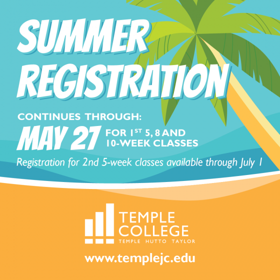 Summer registration continues through May 21