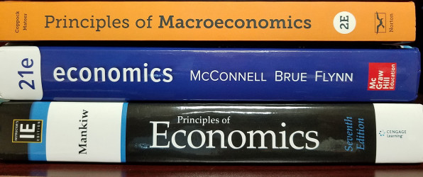 photo of economics textbooks