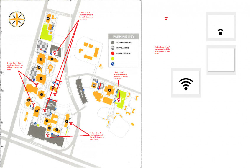 Parking lots with good Wi-Fi access